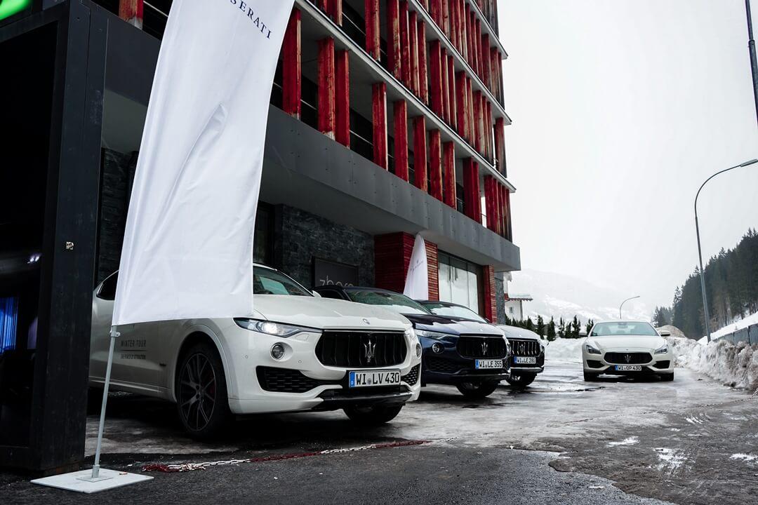 Maserati am Zhero Hotel in Ischgl