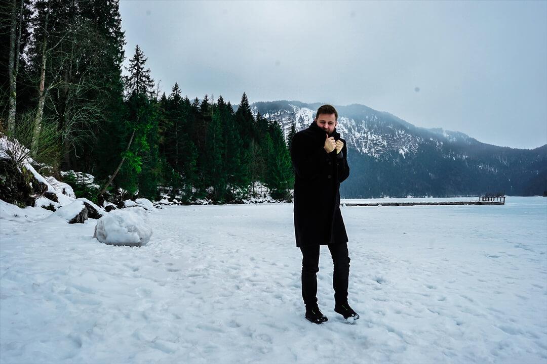 eingefrorener Eibsee
