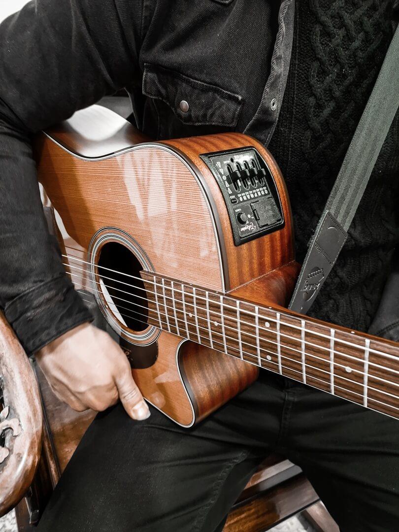 Das Herzstück von Emre Gitar - seine Gitarre
