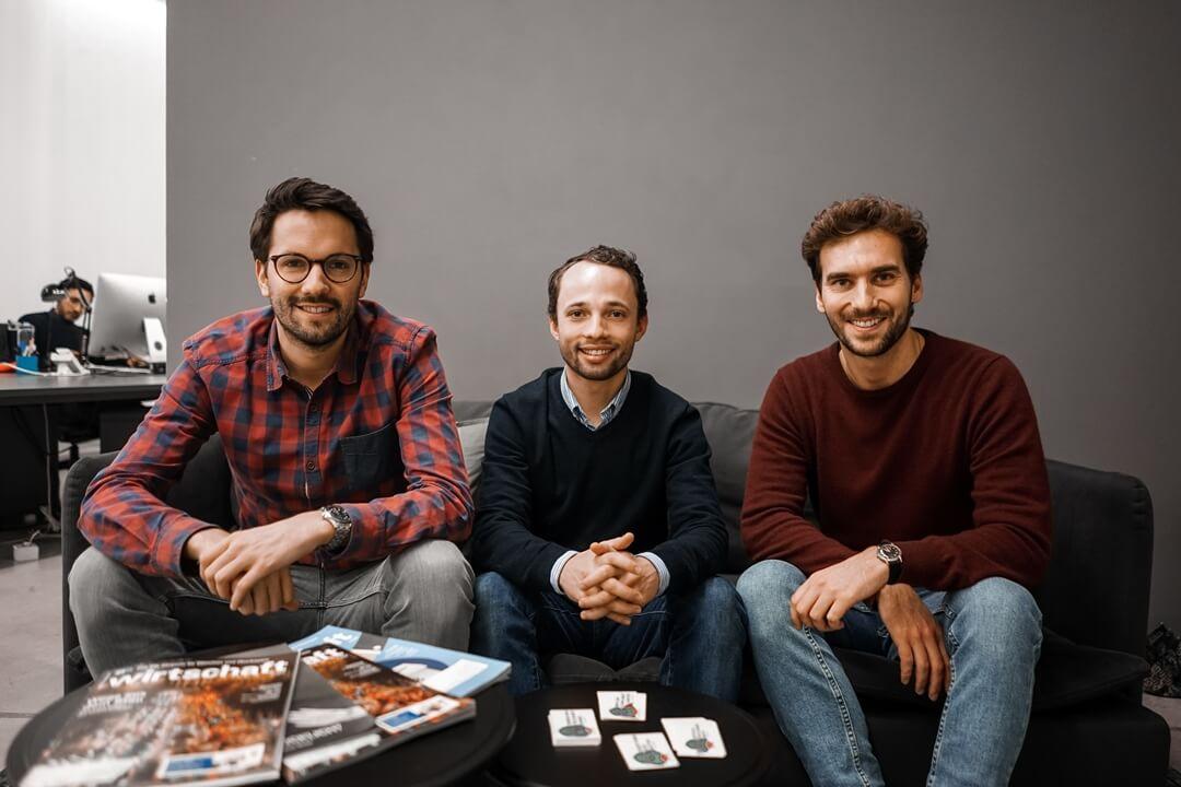 Die drei Gründer von Reachbird: Benedikt Ess (COO), Philipp Martin (CEO), Julian Freese (CMO)