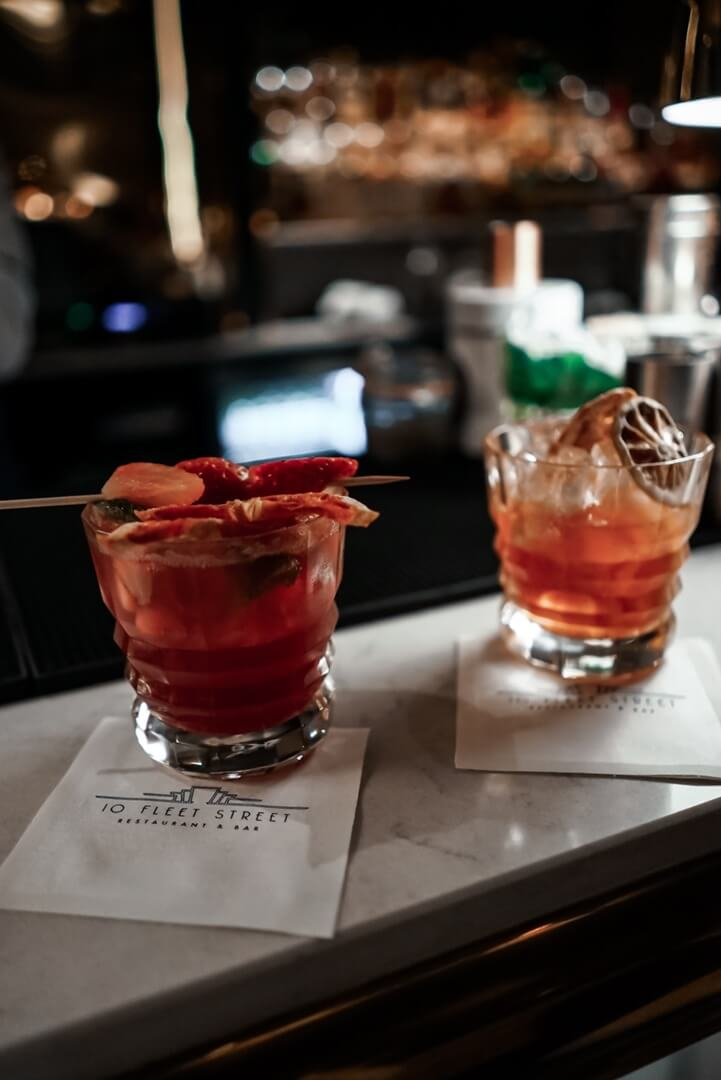 10 Fleet Street Restaurant Cocktails