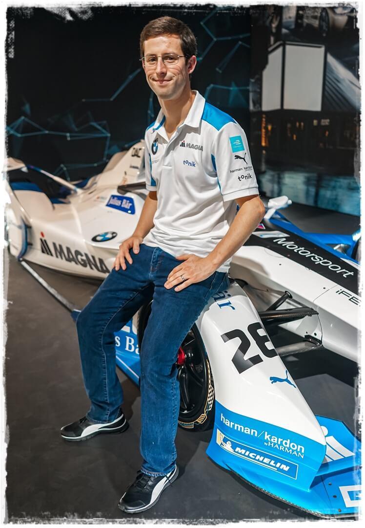 Alexander Sims auf seinem BMW Boliden iFE.18 aus der aktuellen Formel E Saison
