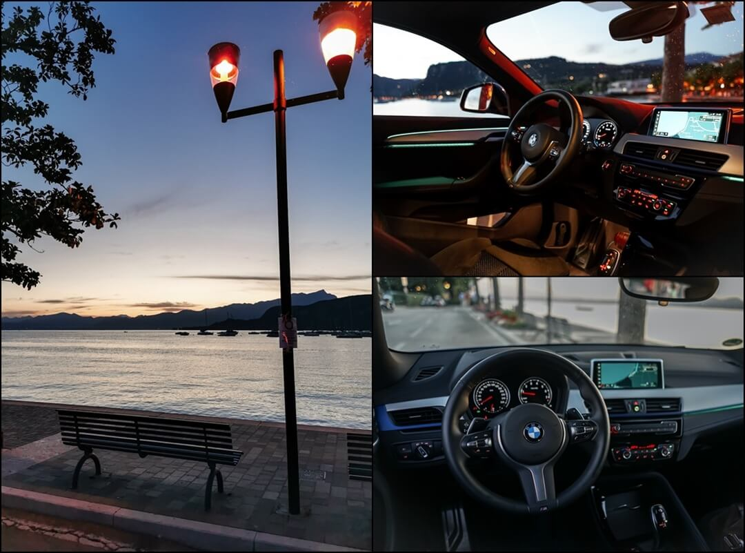 Innenraum vorne und Cockpit Ansicht des BMW X2