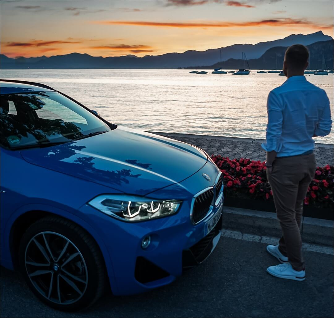 BMW X2 & emvoyoe in Bardolino am Gardasee