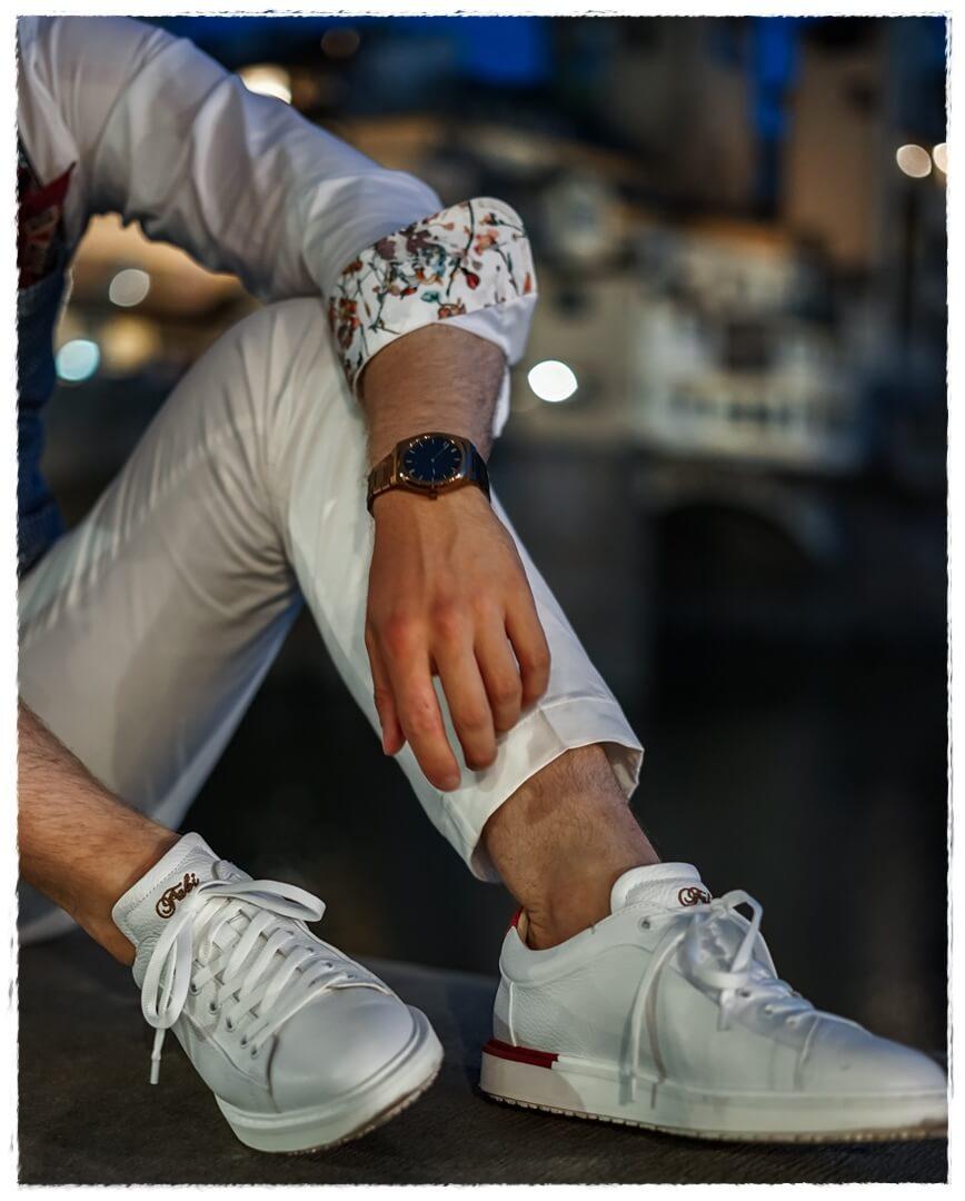 weiße Fabi Sneaker