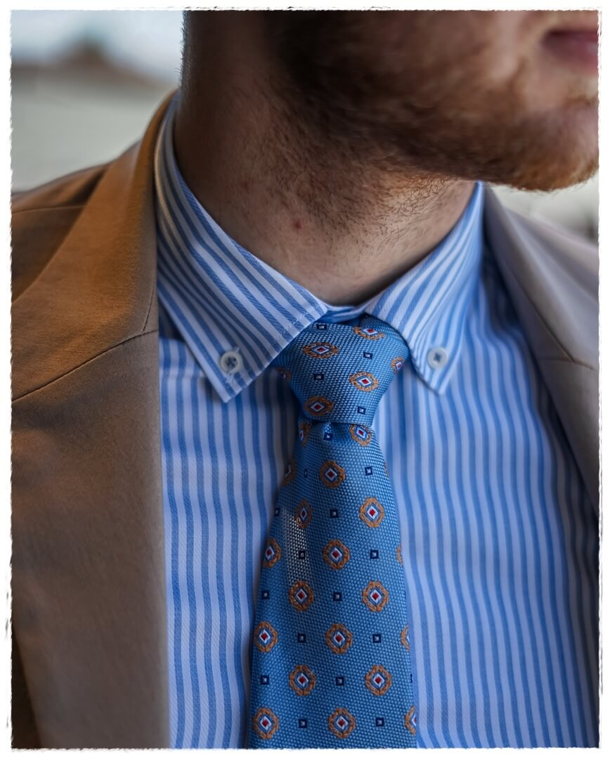 Button-Down Hemd ETERNA & BGENTS Krawatte