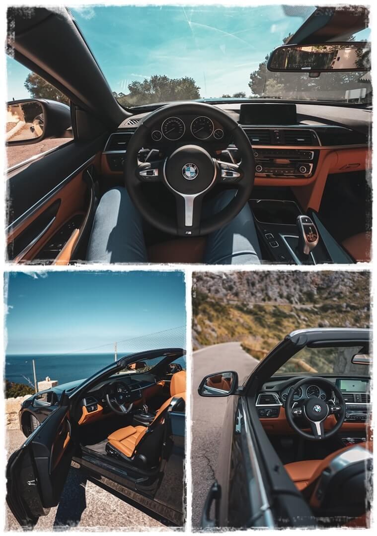 BMW 4er Cabrio - Cockpit auf Palma de Mallorca
