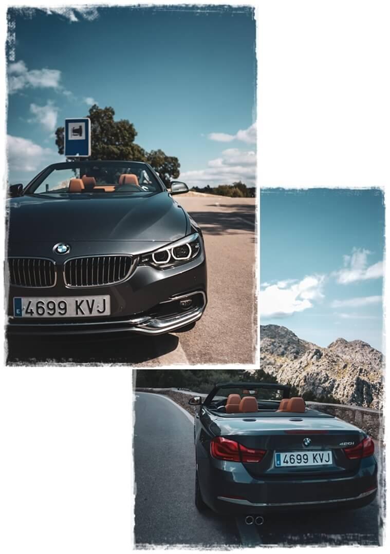 BMW 4er Cabrio - Scheinwerfer Front und Heck