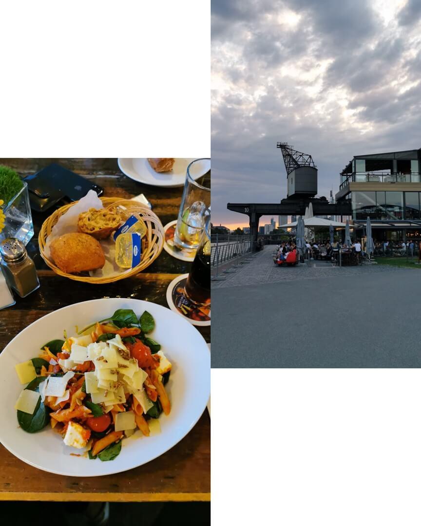 Oosten am Hafenpark Mainufer Frankfurt - Penne Arrabiata