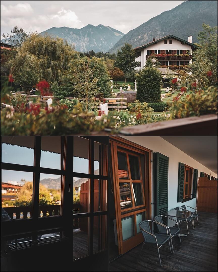 Balkon und Aussicht der Junior Suite im Bachmair Weissach Hotel