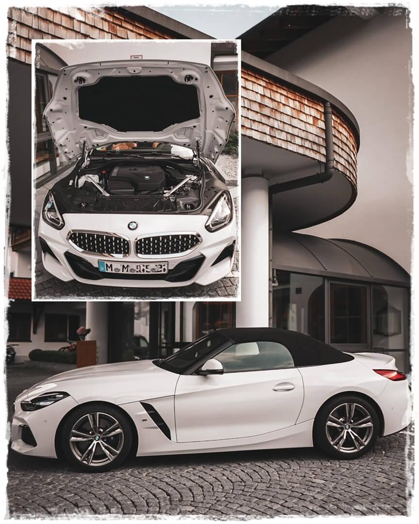 BMW Z4 sDrive 20i M Sport Motorhaube (oben), mit geschlossenem Verdeck (Hauptbild)
