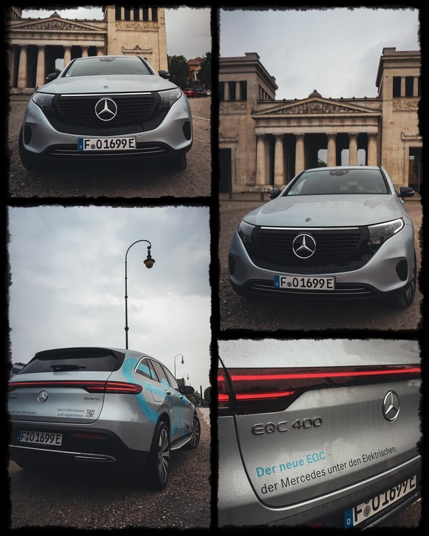 Mercedes Benz EQC 400 Front- & Heckansicht