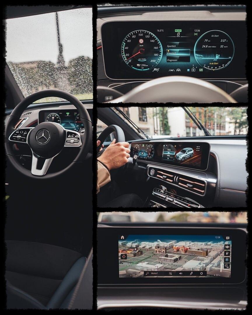 Mercedes Benz EQC 400 Interieur - Navigationssystem mit MBUX