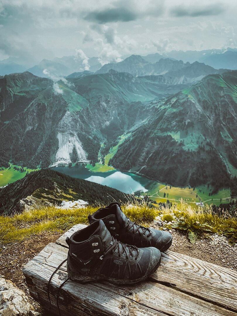 Aussicht Gaishorn mit KEEN VENTURE Wanderschuhe