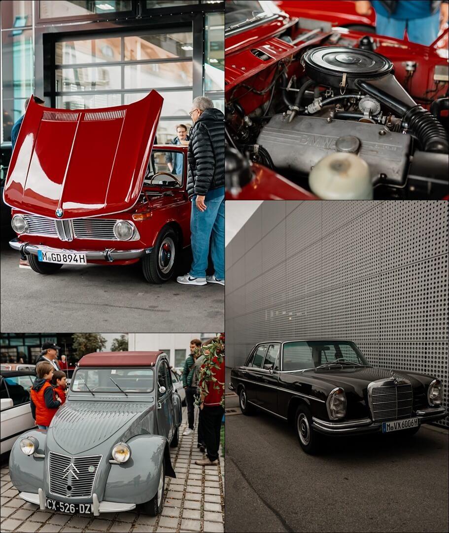 Oldtimer von BMW, Renault und Mercedes-Benz