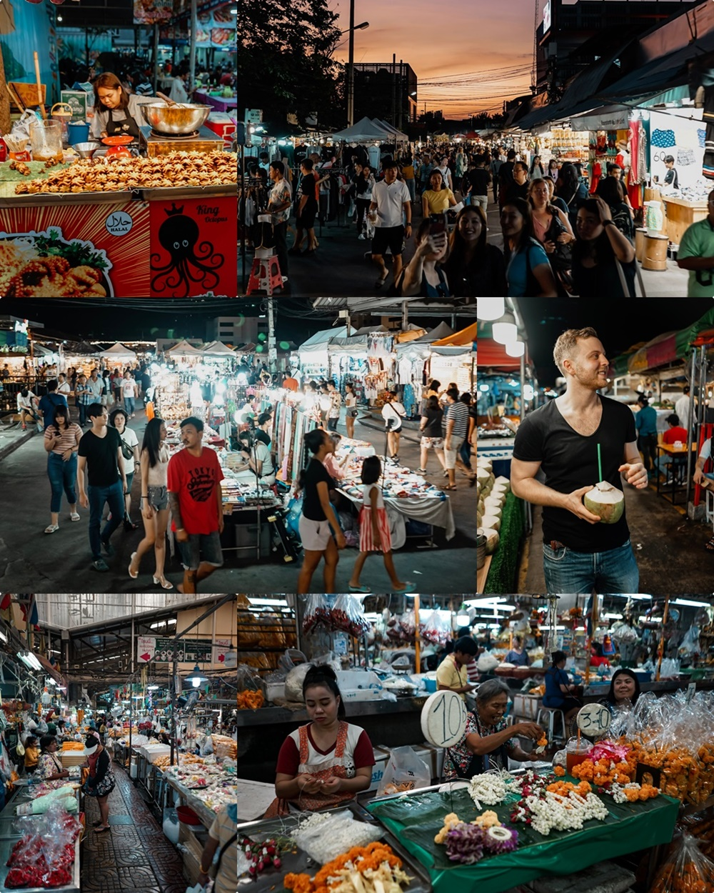 Chak Tu Chak Weekend Market (oben), Train Night Market (Mitte), Flower Market (unten)