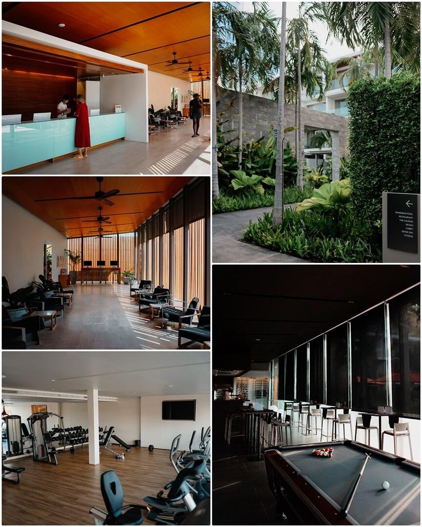 Lobby, Gym und Lounge im The COAST Koh Samui