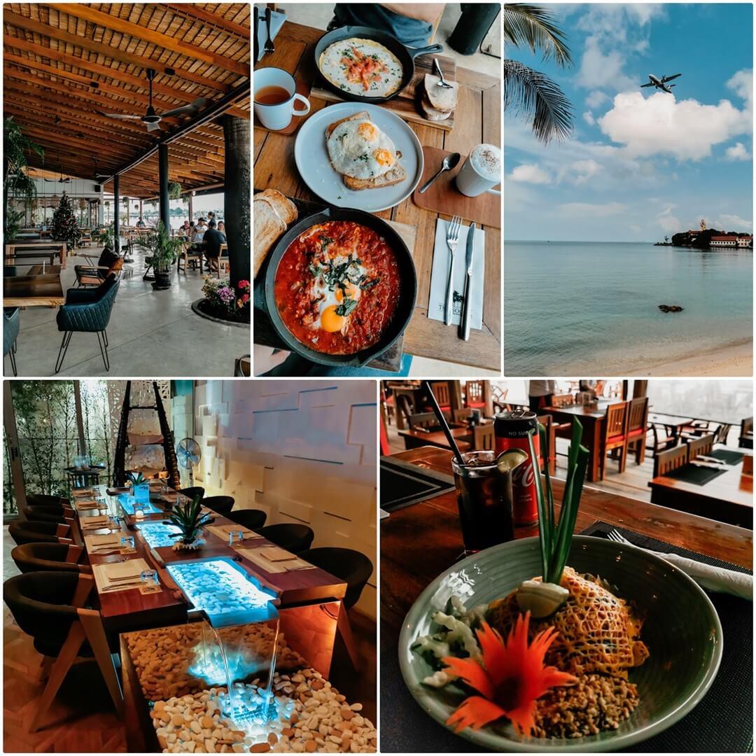 Empfehlungen auf Koh Samui: The Social (oben), Chi Beach Bar & Crystal Restaurant (unten)