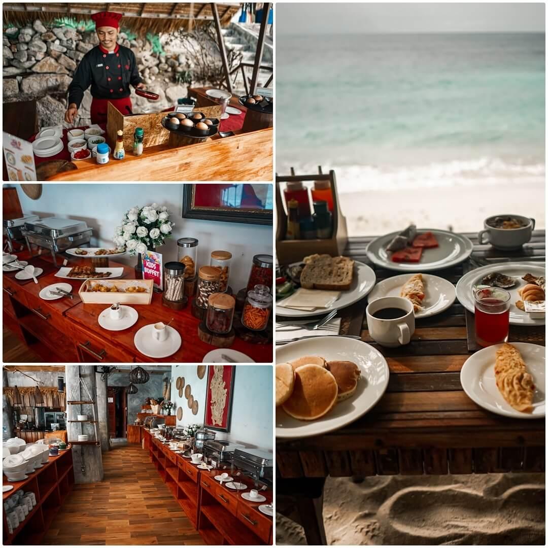 Frühstück im Sai Daeng Resort auf Koh Tao