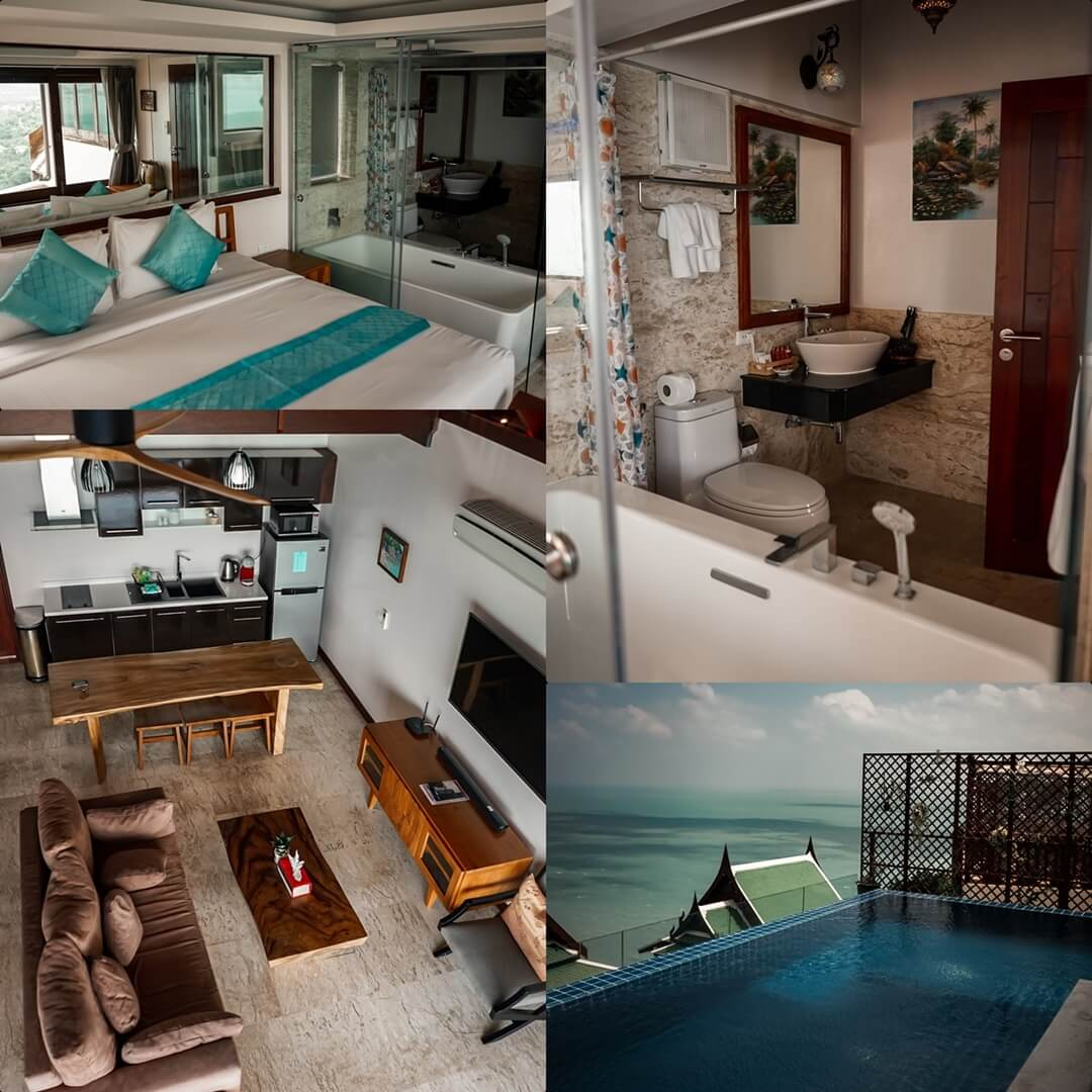 Villa Rose - 3 Schlafzimmer Villa: Wohnzimmer, Zweites Schlafzimmer, Pool