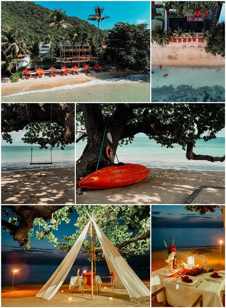 The COAST Koh Phangan Strand, Kayakausleihe & Romantic Dinner on the Beach