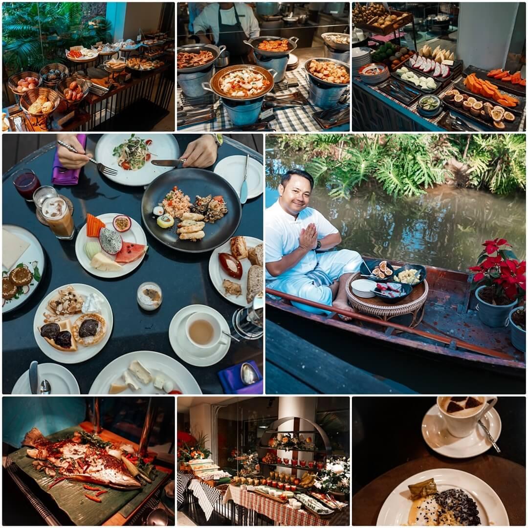 La Sala Restaurant: Frühstück oben & mitte, unten Buffet beim Abendessen