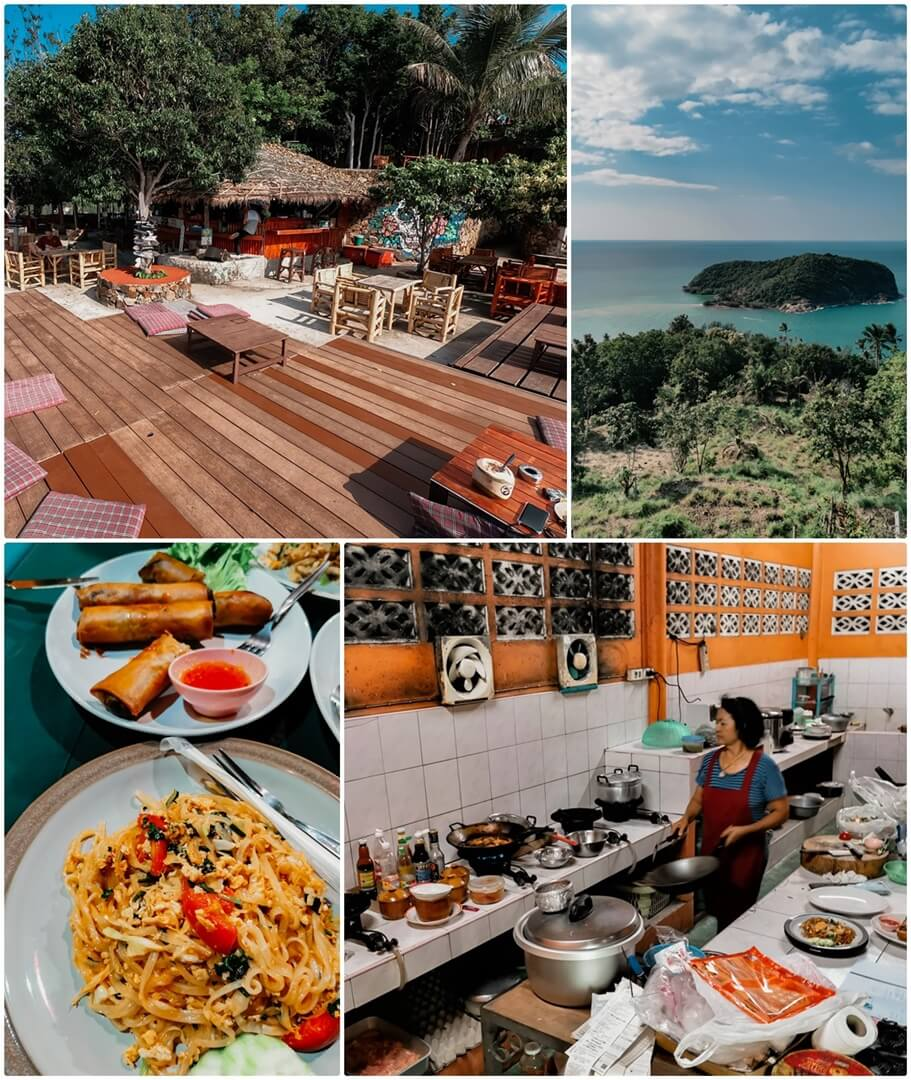 Three Sixty Viewpoint Bar oben, Thai Diner Restaurant unten