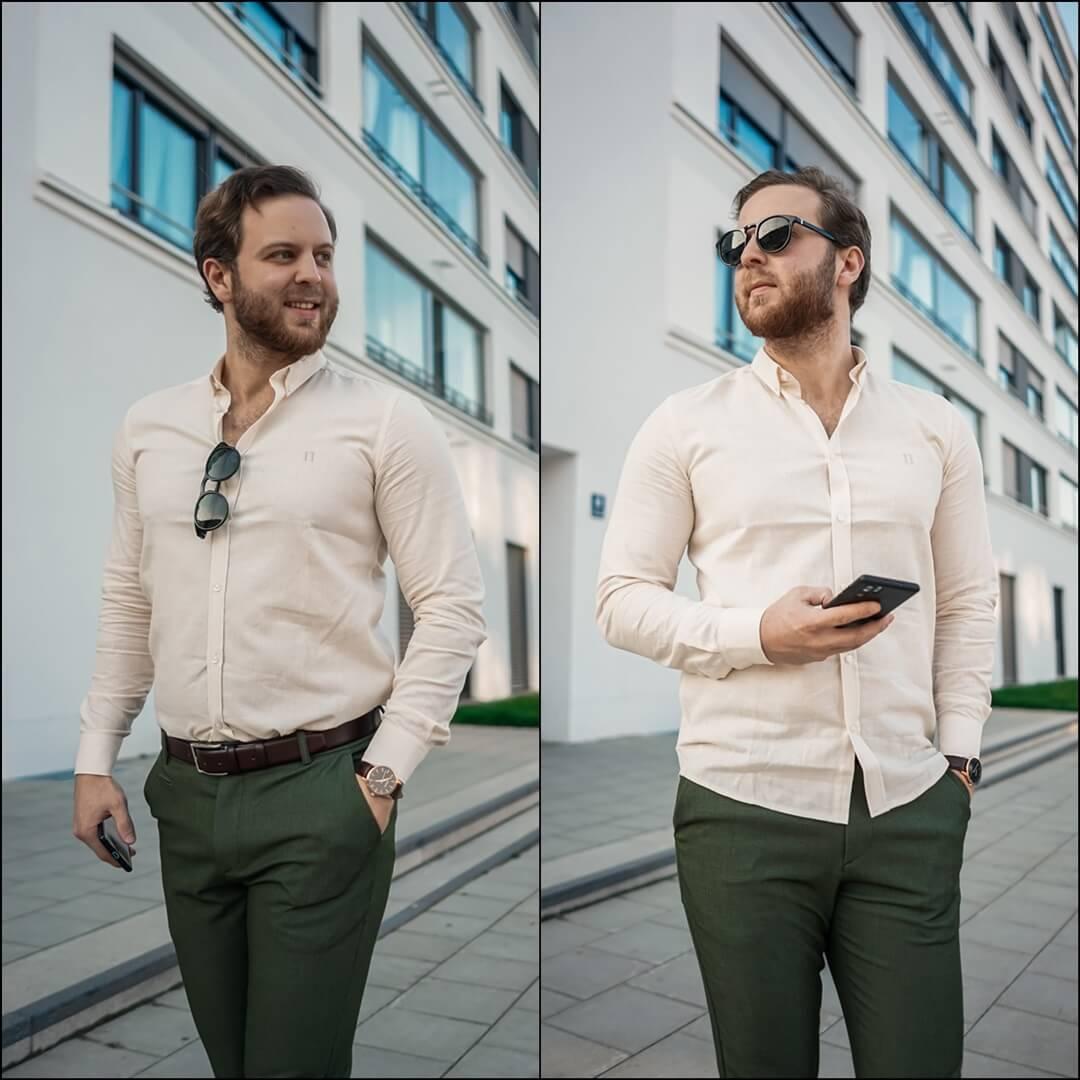 Casual Chic fürs Büro und Alltag, Hemd & Hose von Les Deux