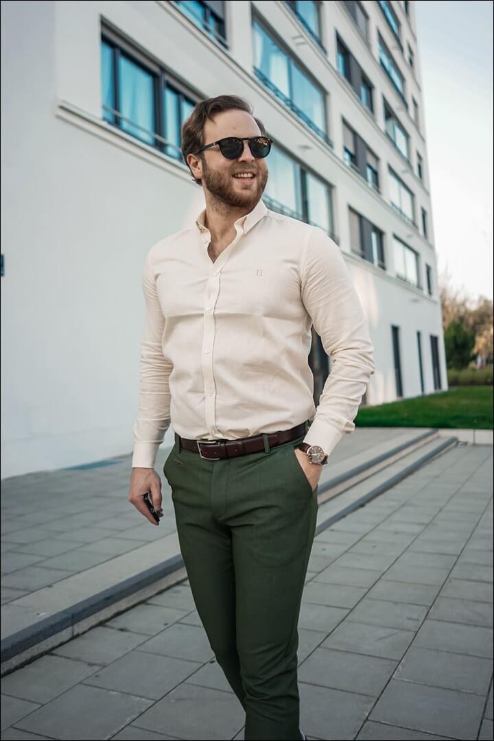 Frühlings Outfit für Herren 2020 - Sonnenbrille von BOSS & Gürtel von BGents