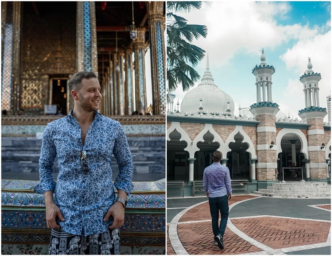 Thailand, Malaysia & Singapur Reise Ziele mit ETERNA Hemden