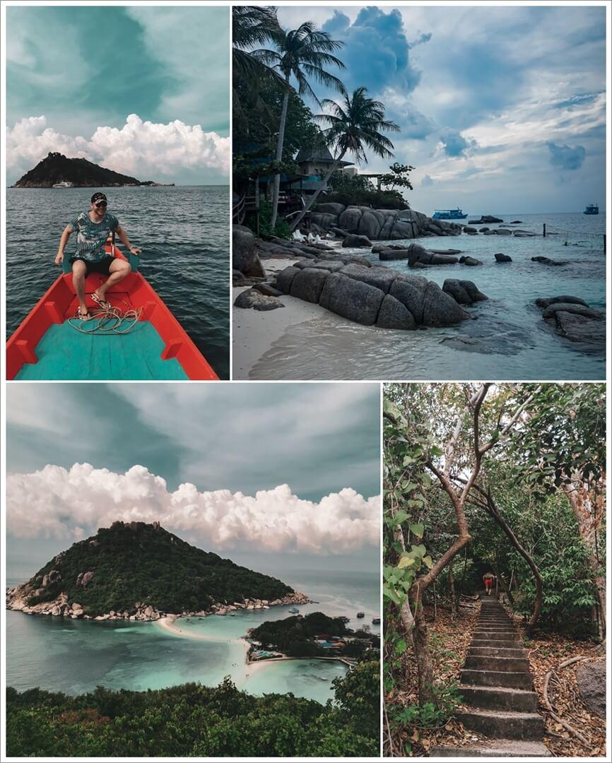 Ausflug Koh Nang Yuan, unten: Aussichtspunkt