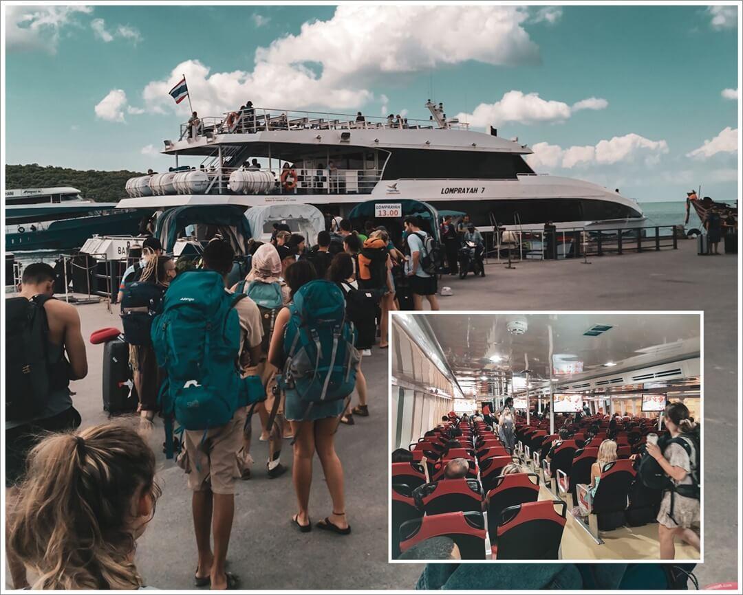 Abreise aus Koh Phangan nach Koh Tao mit dem Katamaran