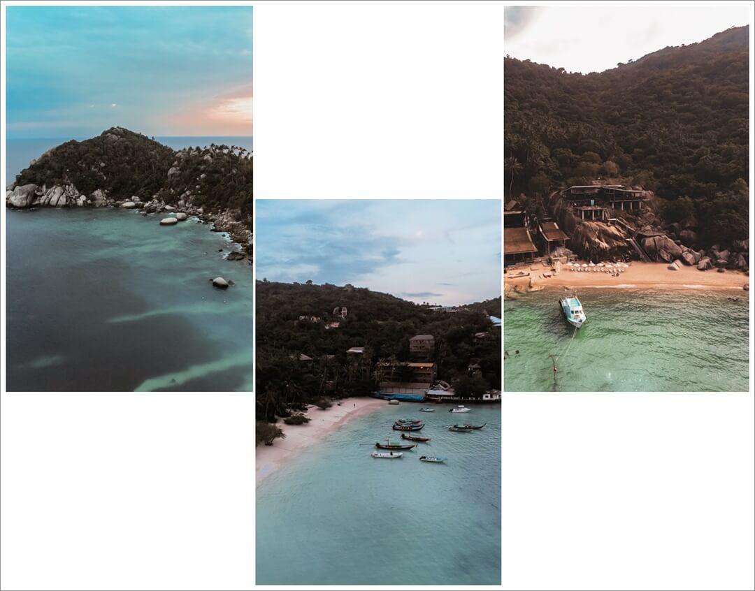 Shark Bay & Mango Bay (rechts) Koh Tao