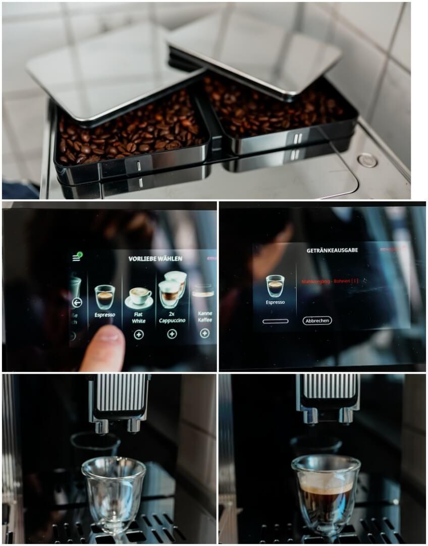 De'Longhi Maestosas zwei Bohnenbehälter mit einer adaptiven Grinding Technologie
