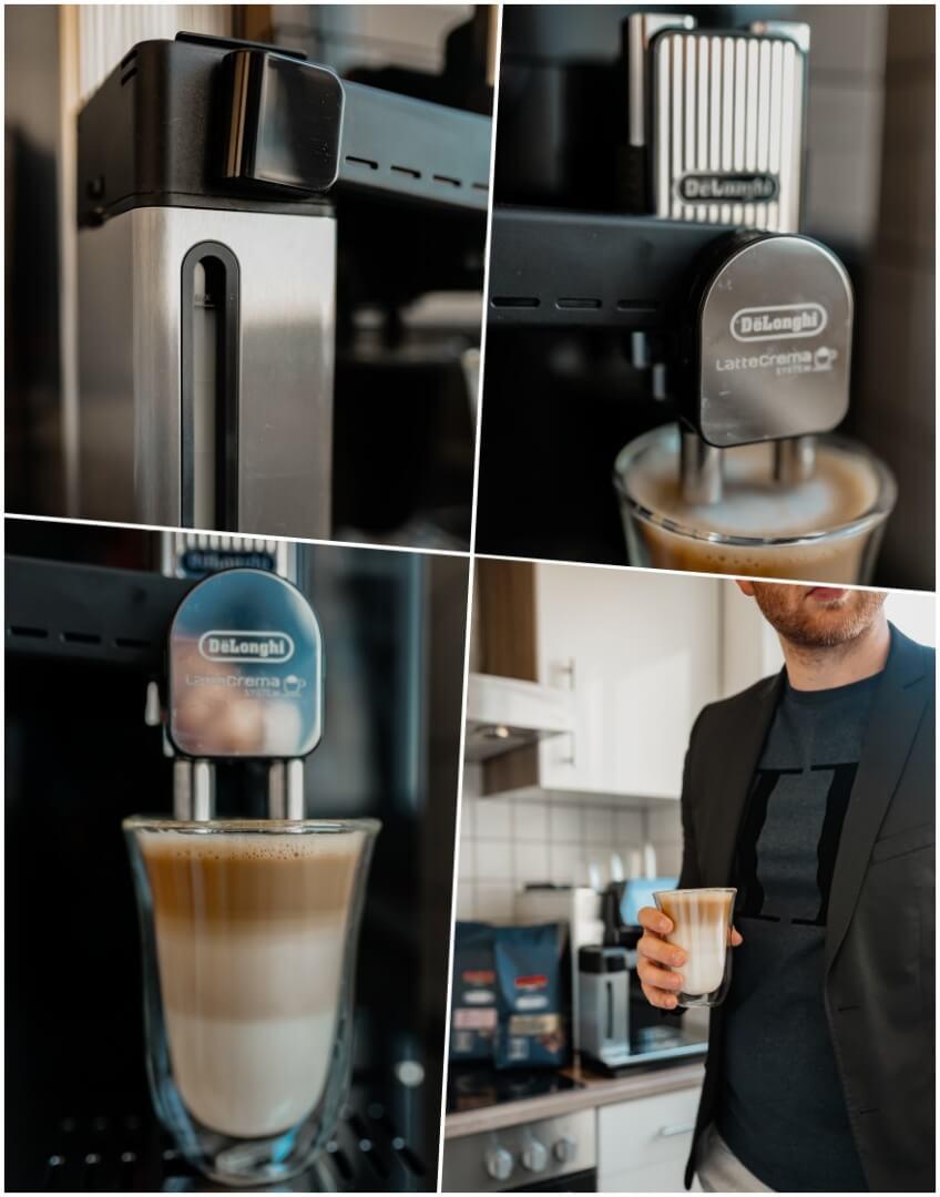 Latte Crema System am DeLonghi Maestosa