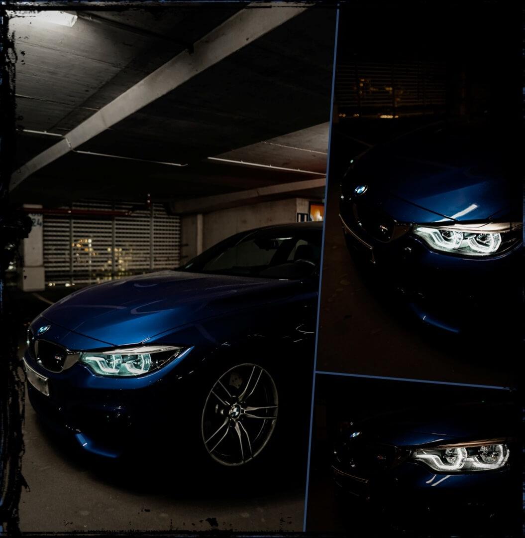"""BMW M4 Coupé in San Marino Blau, 19"""" Leichtmetallfelgen & LED Scheinwerfer"""