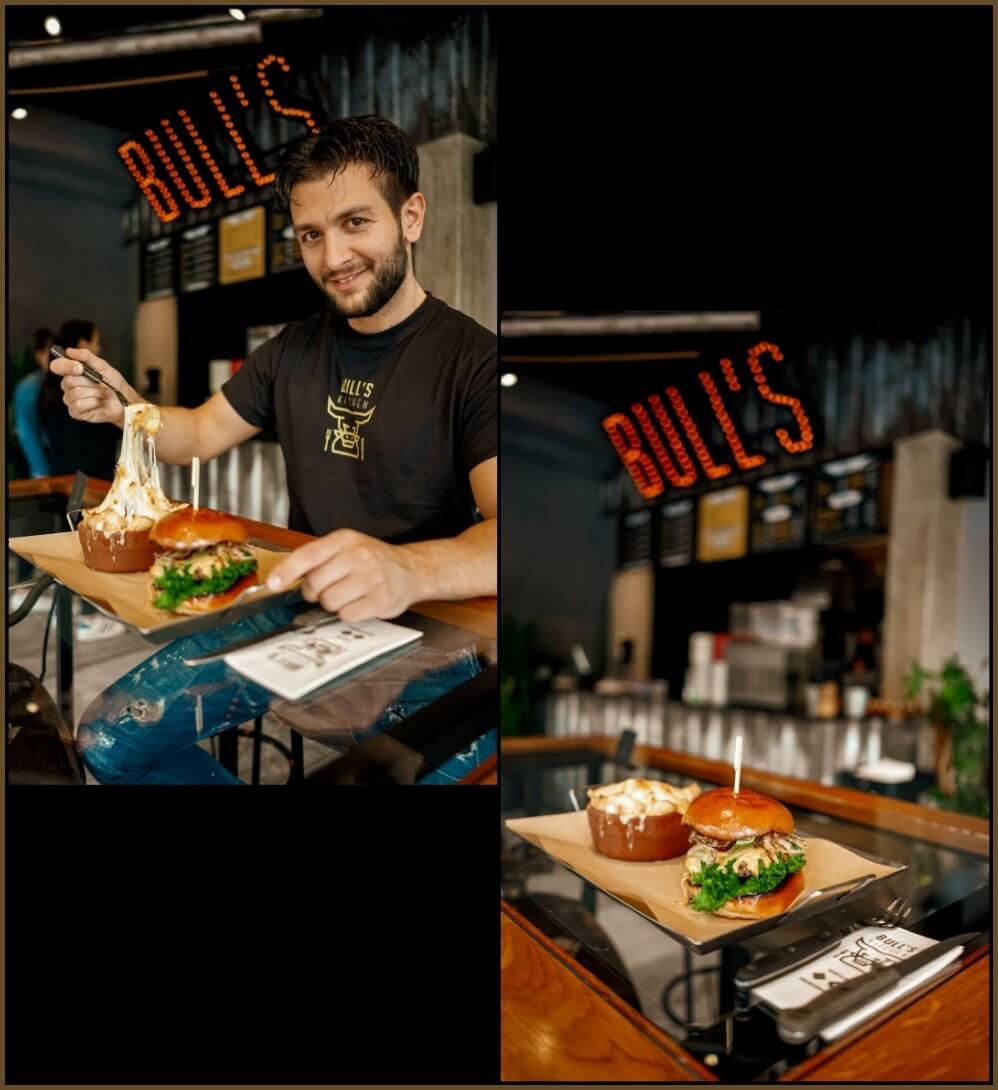 Burger & Chilli-Cheese Fries: sorgen für eine Geschmacksexplosion | Bull's Kitchen Hannover