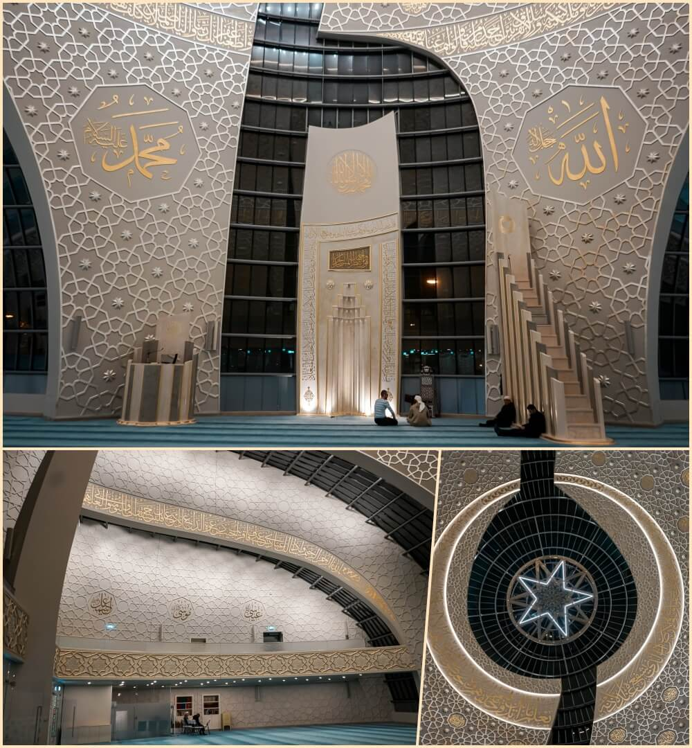 Gebetsraum & Design der DITIB Zentralmoschee Köln
