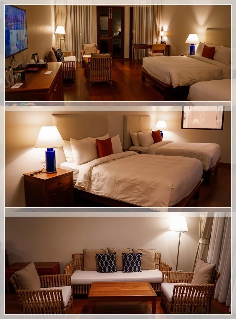 Deluxe Doppelzimmer mit großen Queenbetten im Le Menara Hotel in Khao Lak