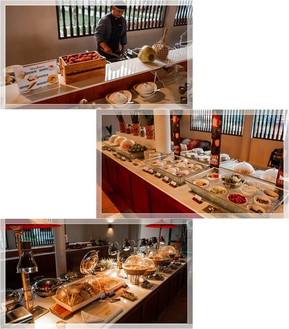 Frühstück Buffet im Le Menara Hotel Khao Lak