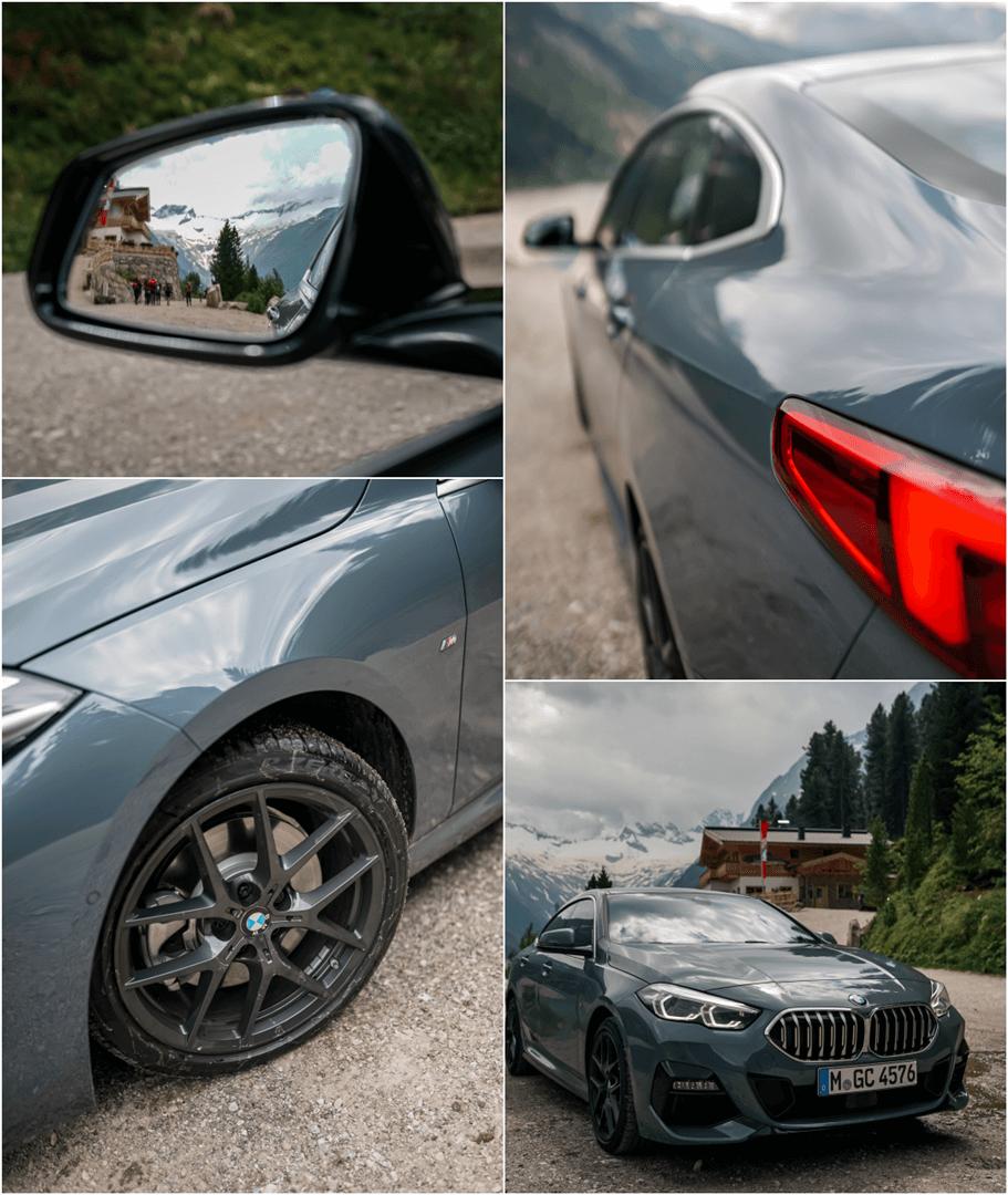 """18"""" M Doppelspeiche Felgen in schwarz und Niere des BMW 220d Gran Coupé M Sport"""