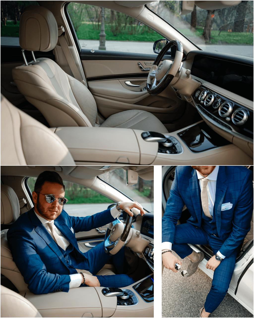 sehr hochwertiges Interieur der Mercedes-Benz S-Klasse - Leder Nappa in der Farbe porzelan