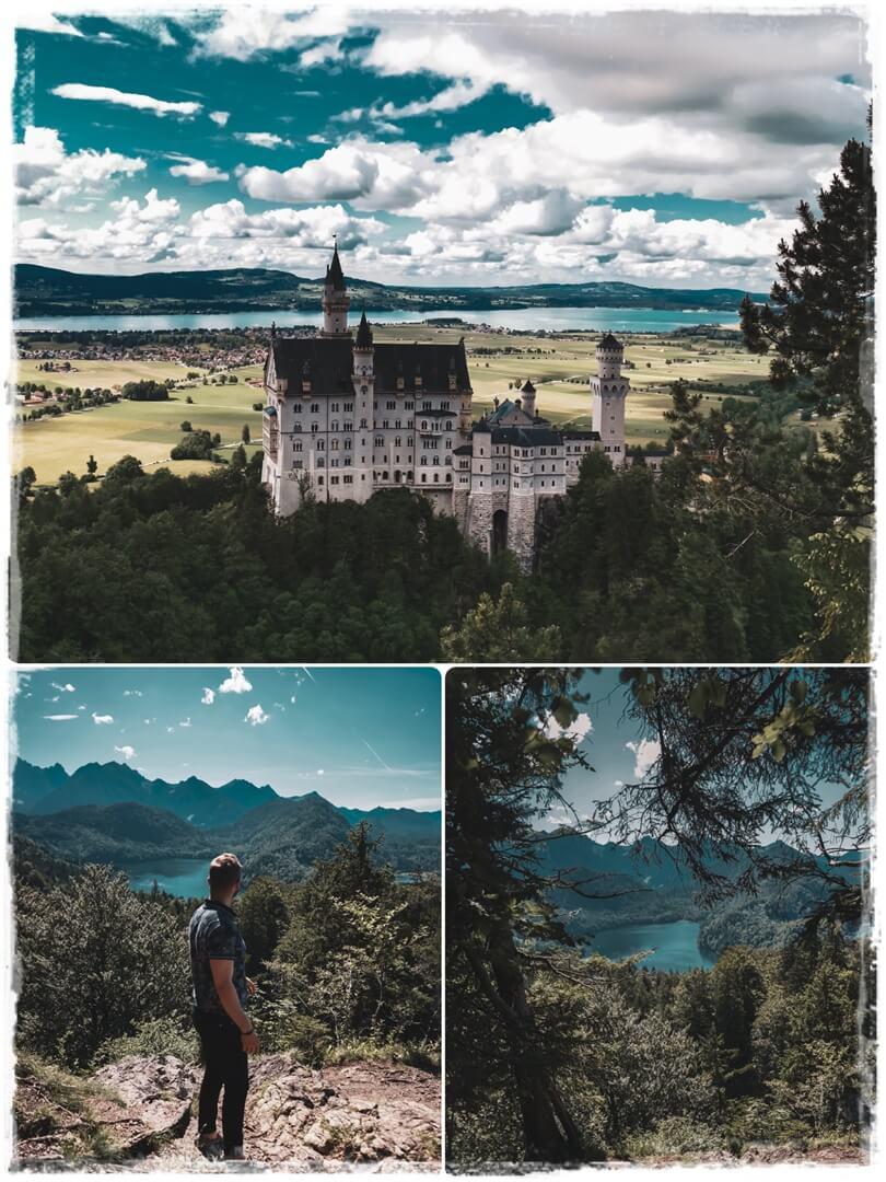 Schloss Neuschwanstein - 2. geheimer Foto Spot mit Blick auf Alpsee