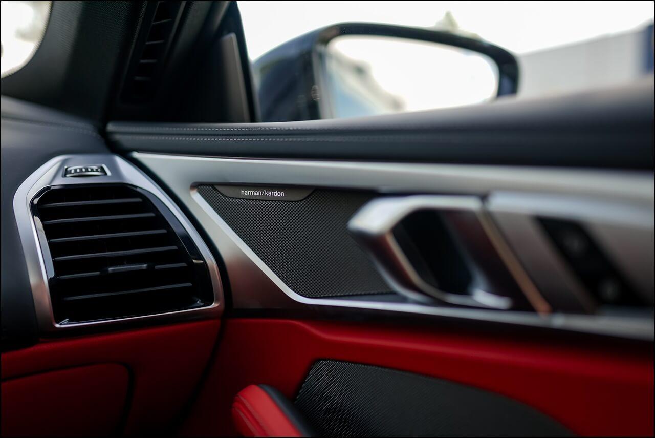 Harman Kardon Sound System im Innenleben des 8er BMWs