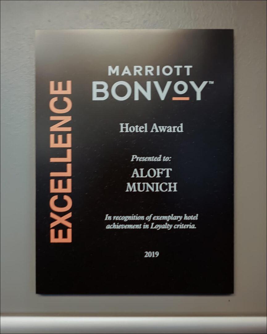 Marriott Bonvoy Auszeichnung 2019